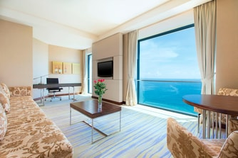 Executive Suite Ocean View Living Room