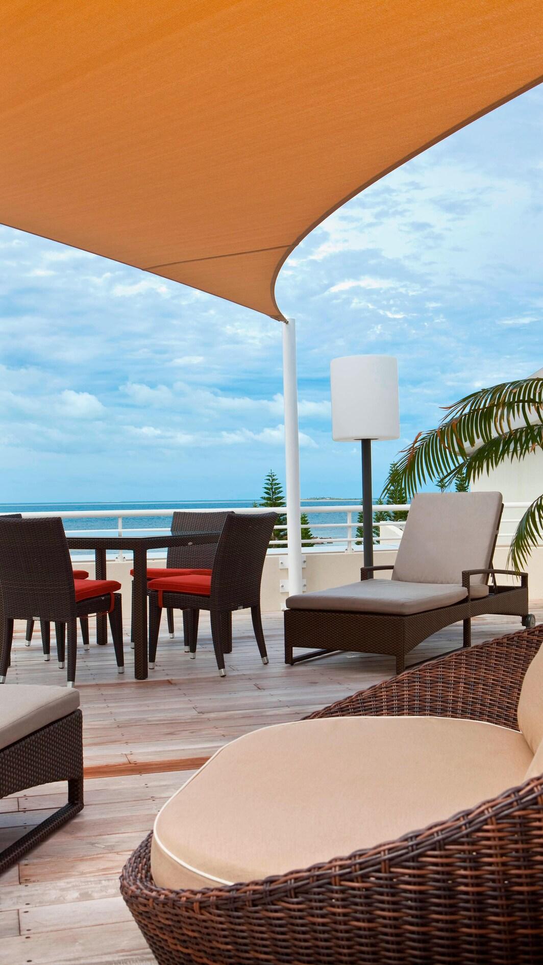 Präsidenten Suite – Blick von der Terrasse
