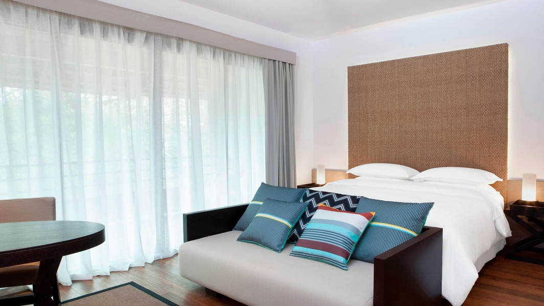 Traditionelles Domain Zimmer mit Kingsize-Bett
