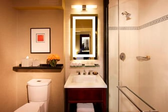 Midtown Manhattan hotel guest bathroom