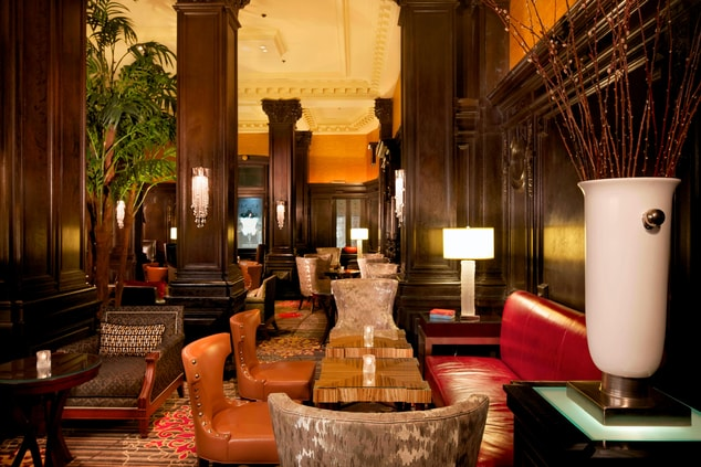 Times Square historic hotel lobby