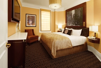 Midtown Manhattan hotel suite bedroom