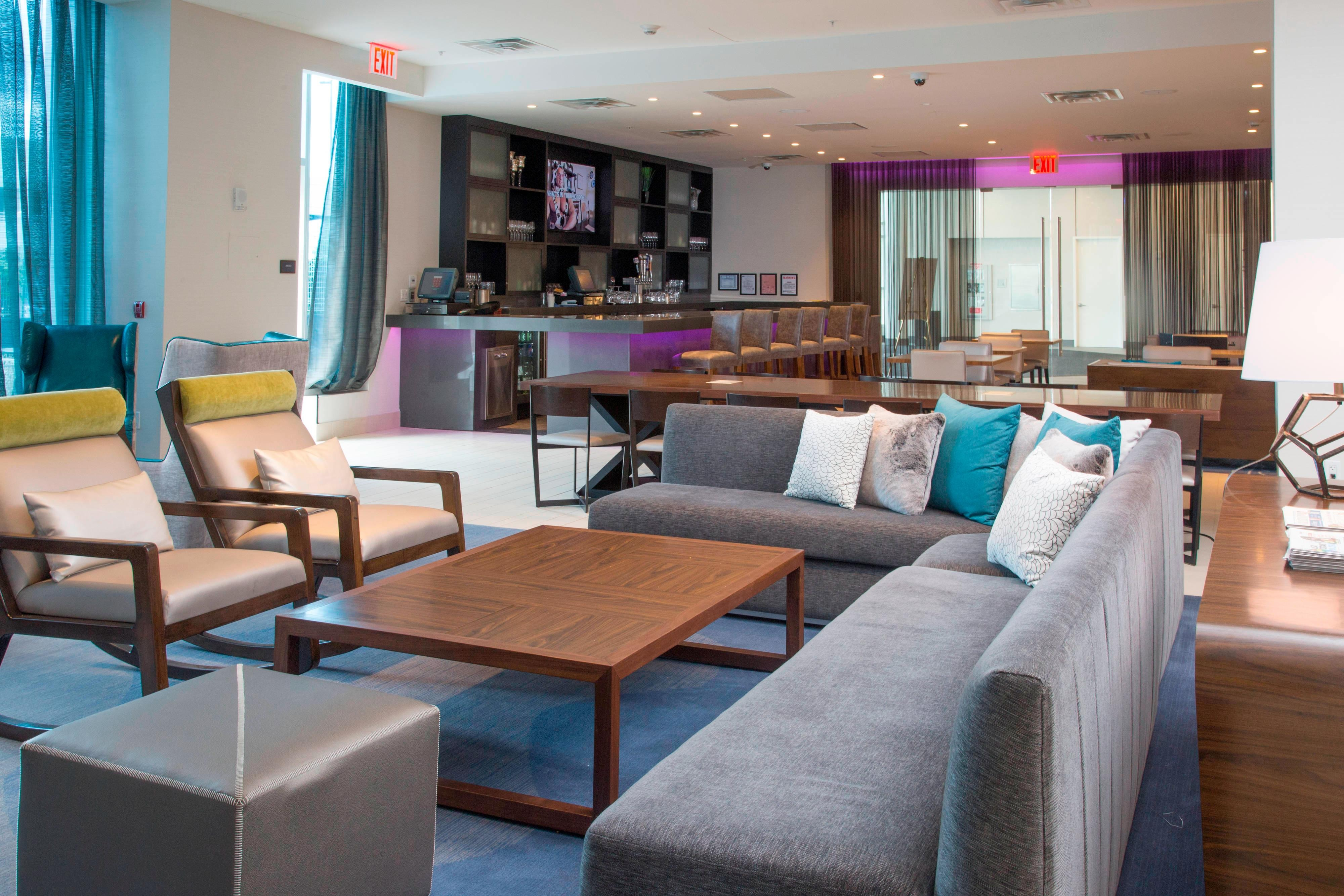 Hotel Lobby-Lounge in der Bronx, NYC