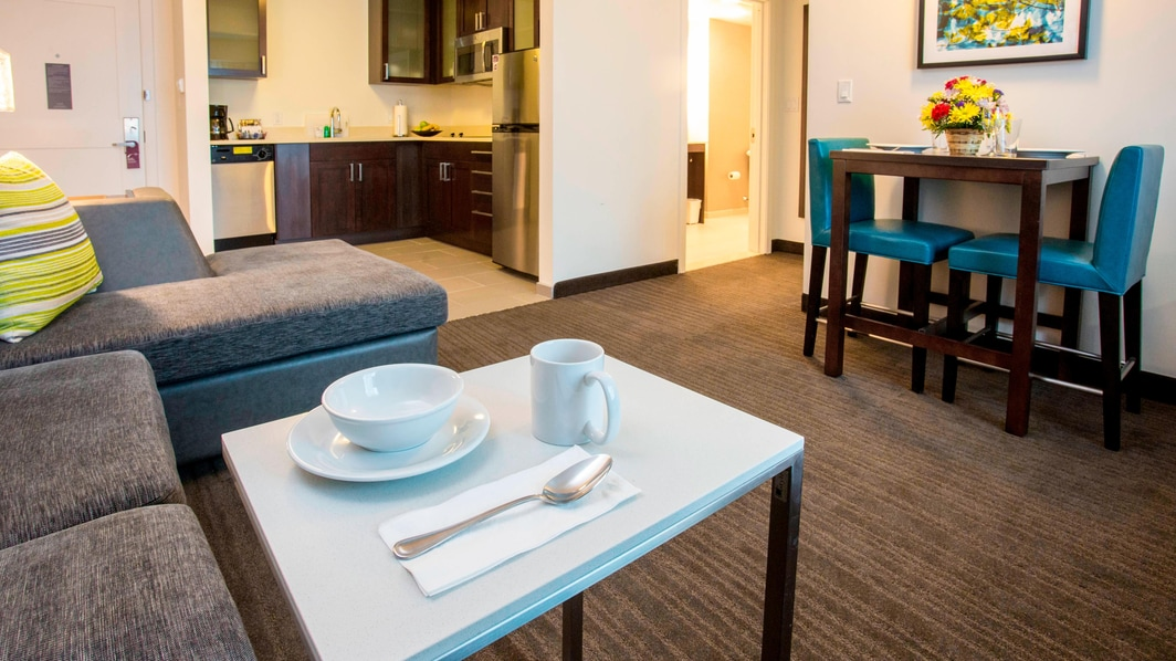 Extended stay hotel suite Bronx
