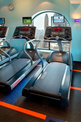 Fitness center at Marriott Hotel