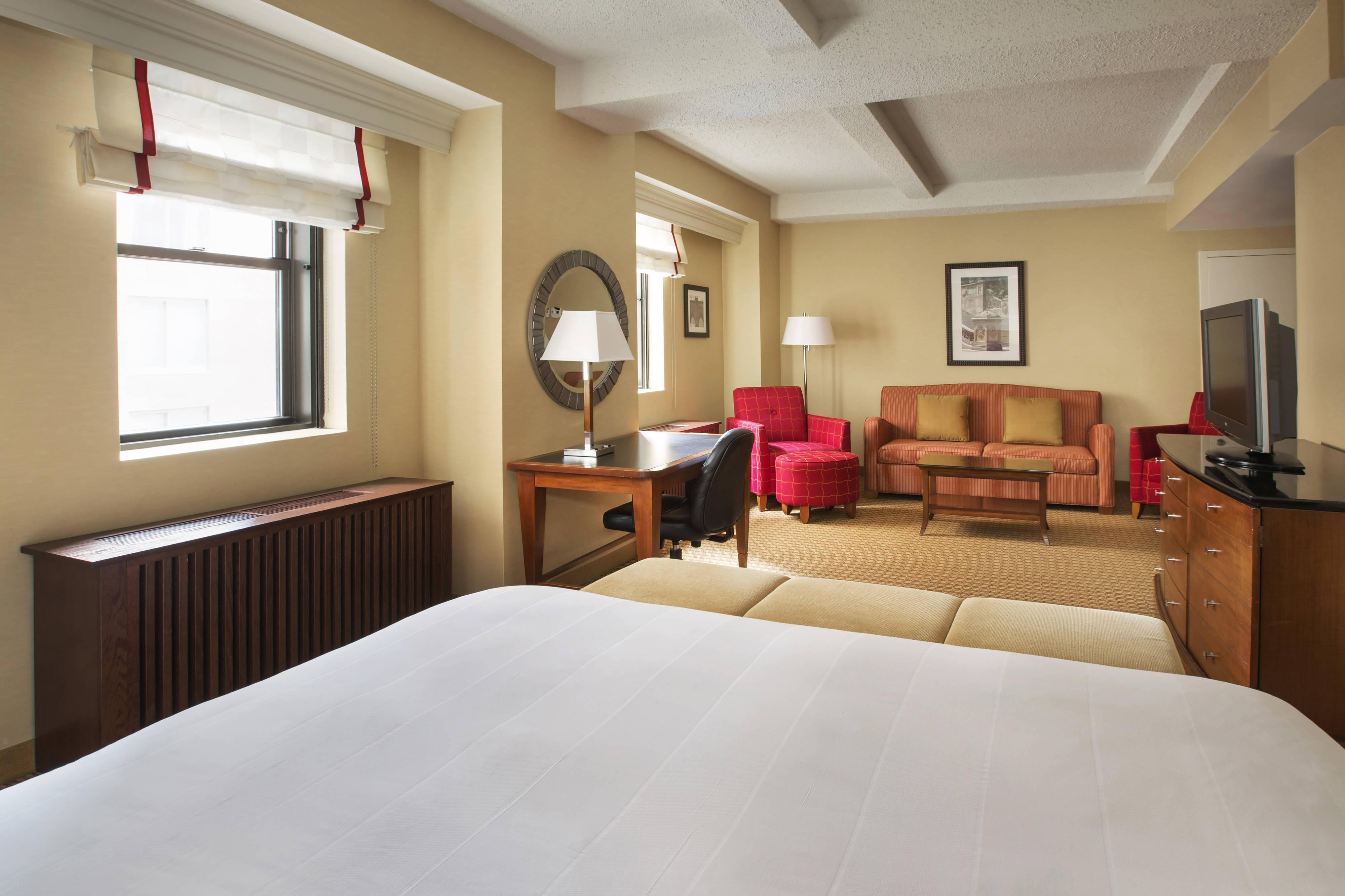 Chambre Grand Central spacieuse avec lit king size