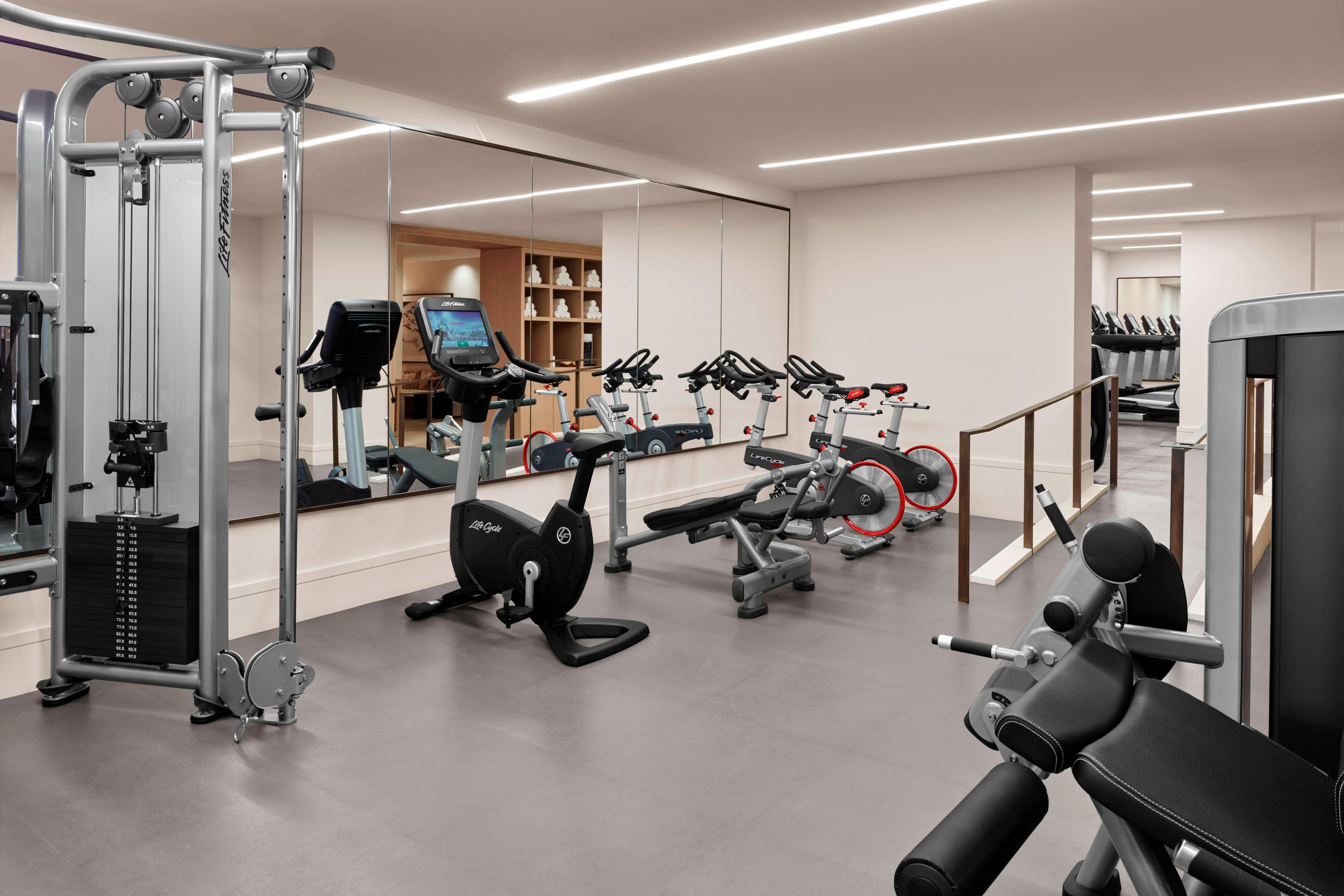 Gym and fitness center at the New York EDITION.