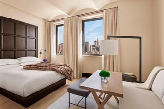 Superior luxury guest room at The New York EDITION.