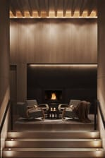 New York EDITION - Chimenea del lobby