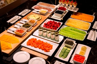 Selection of buffet foods