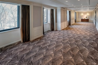 Carpeted meeting space