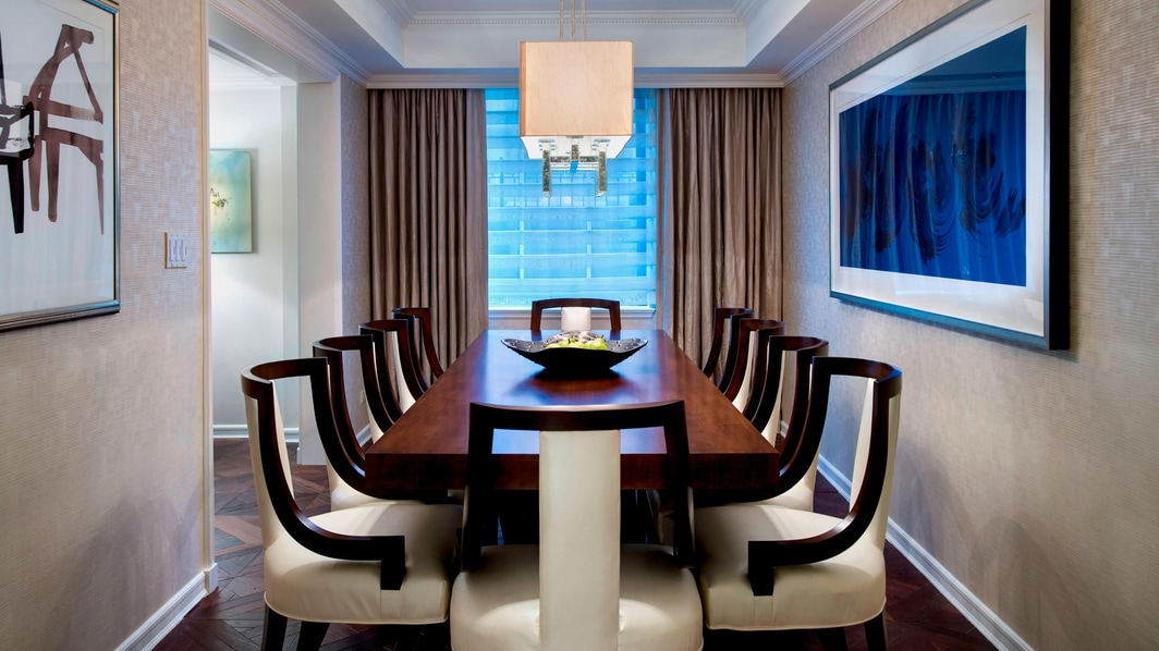 Luxury Manhattan Hotel Suite Dining