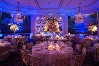 Wedding reception layout in Grand Salon