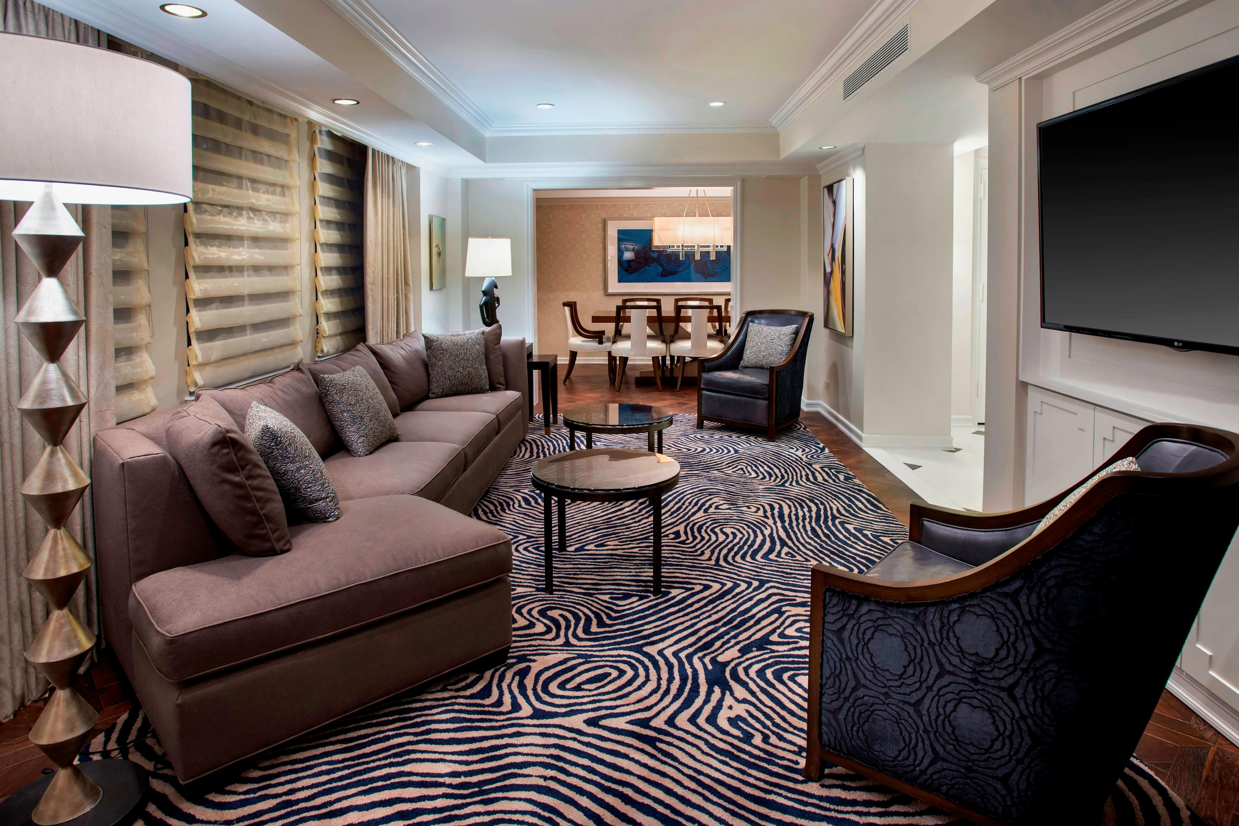 Living Area In NYC Suite
