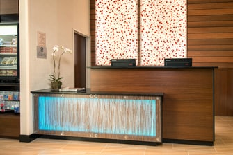 Downtown Manhattan hotel front desk