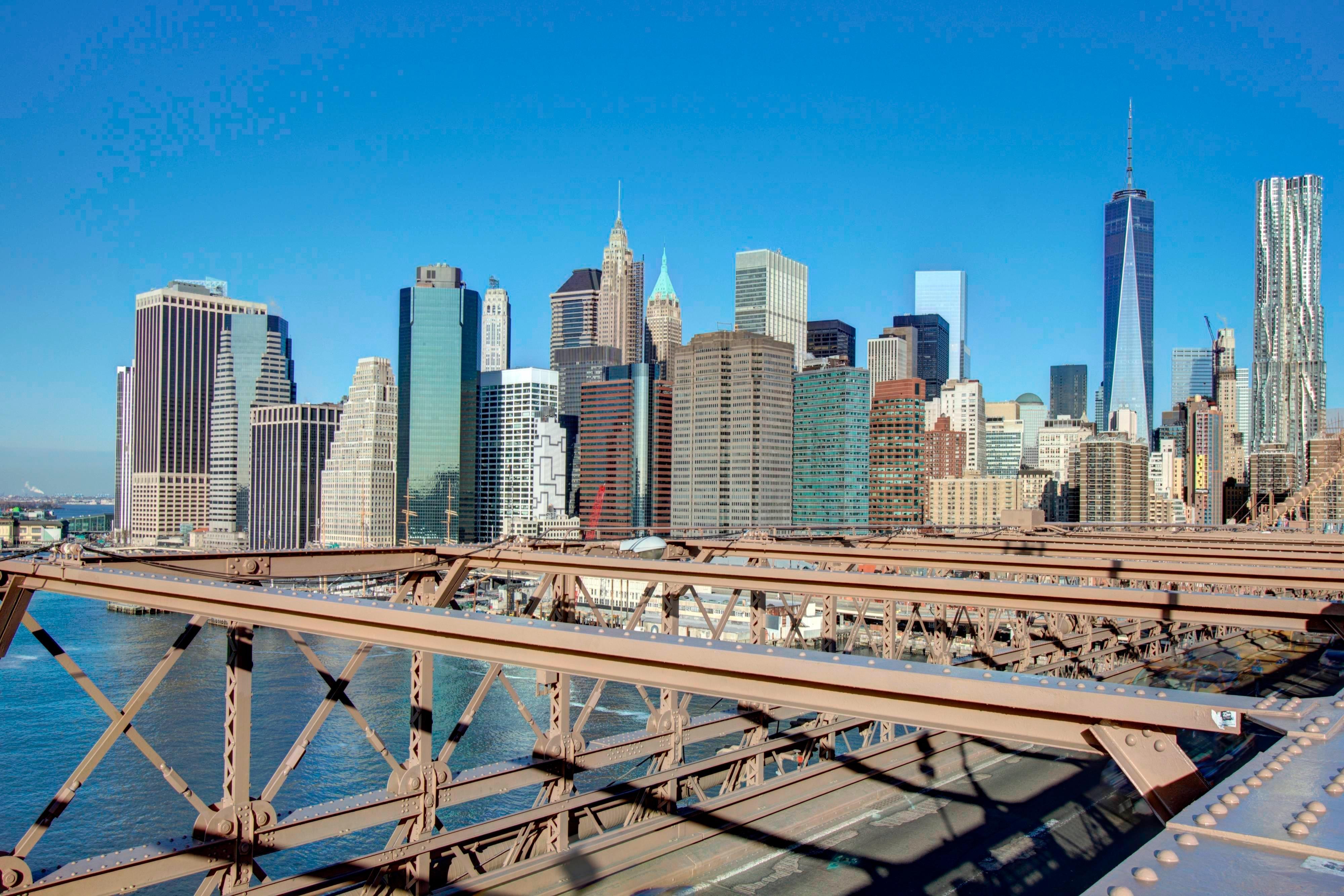 Skyline der Innenstadt von Manhattan