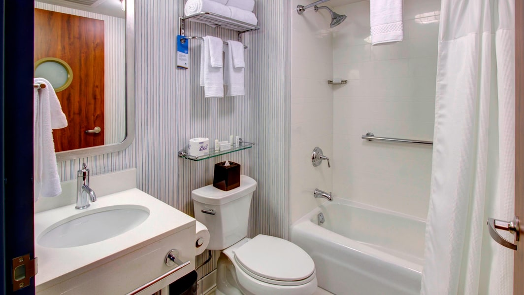 NYC Hotel Bathroom with Tub