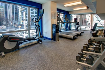Gimnasio del hotel en Lower Manhattan