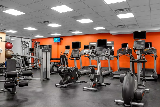 Newly renovated hotel fitness center