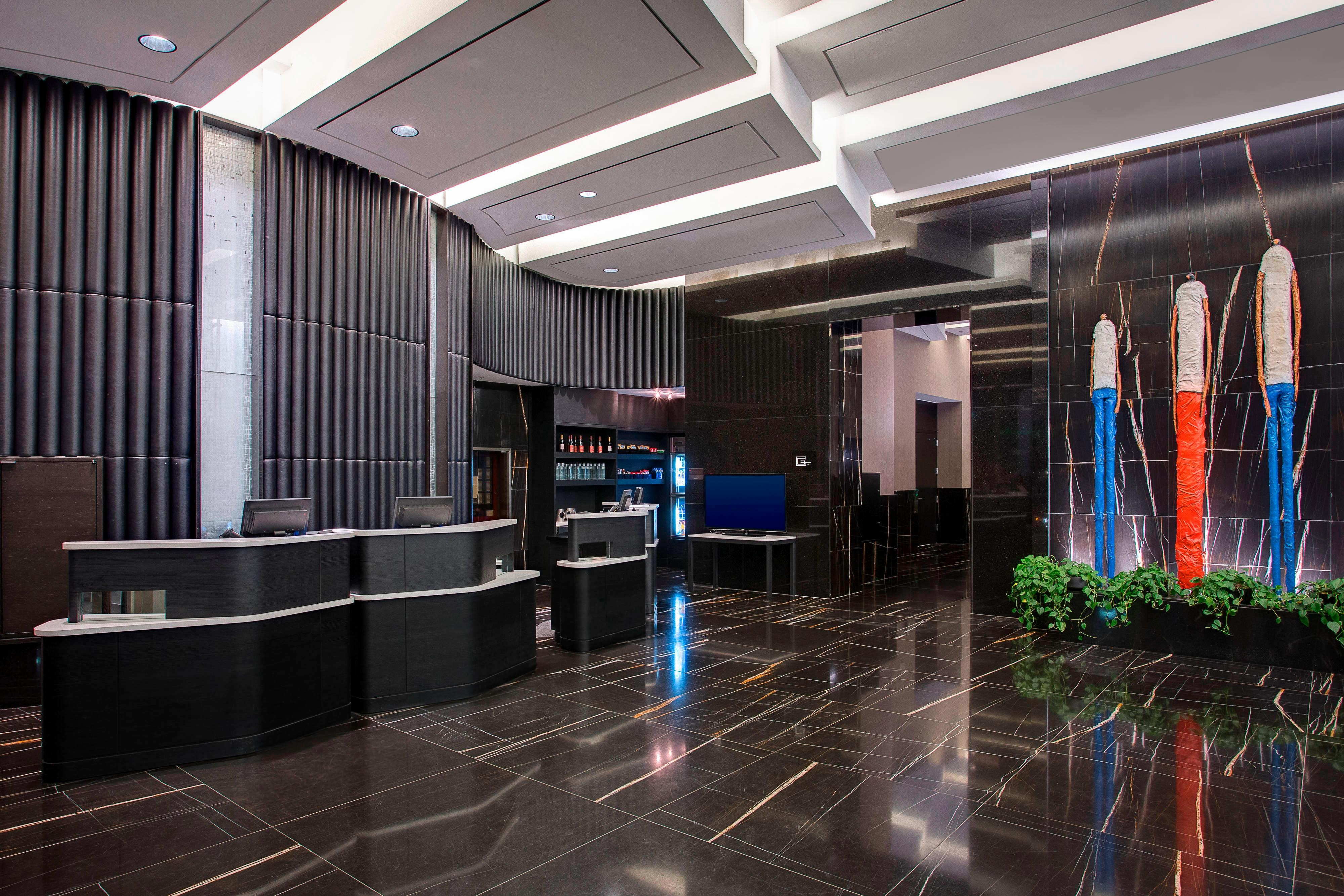 Front desk and Lobby at the Courtyard Central Park
