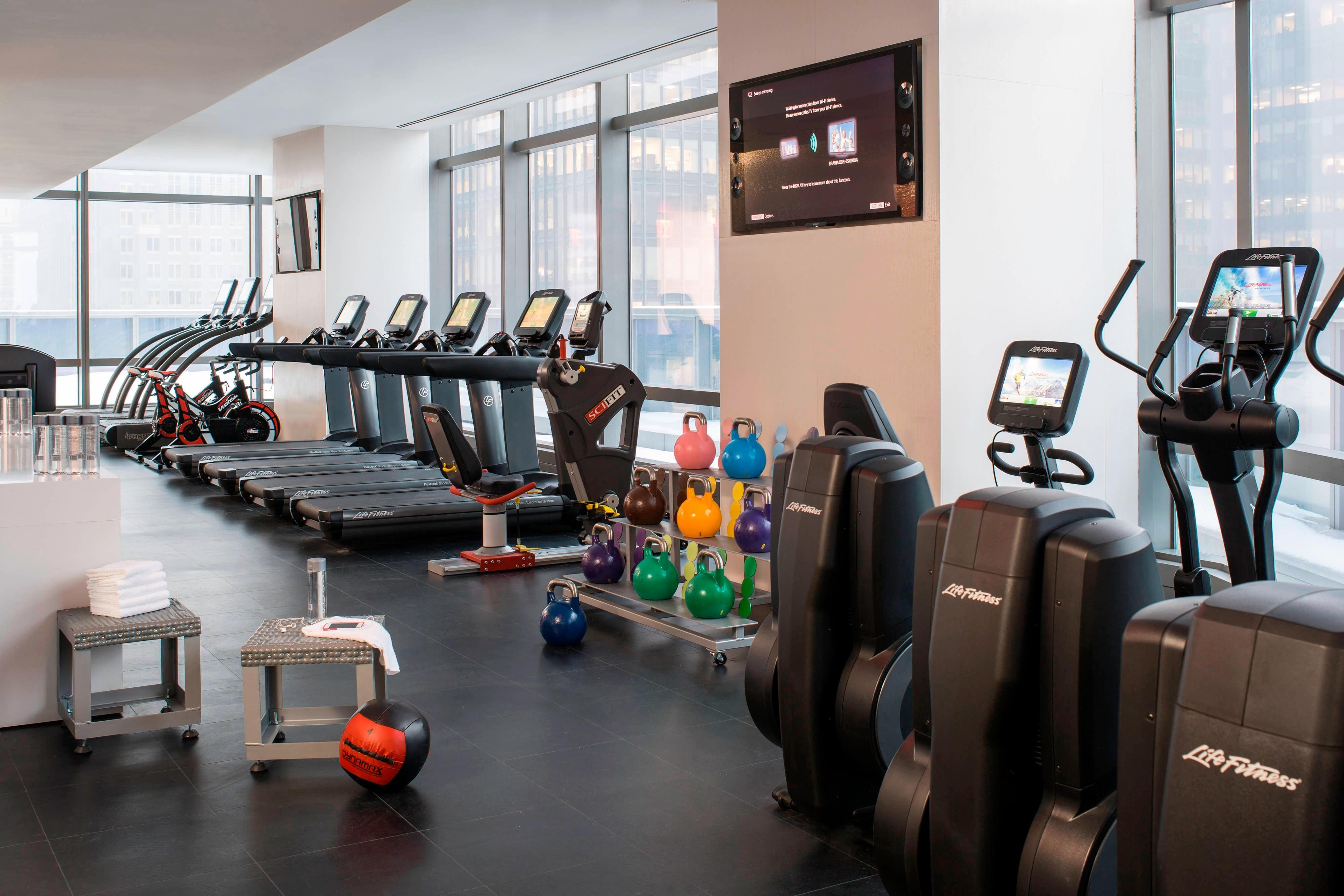 Fitnesscenter in Hotel am Central Park