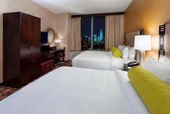 Chambre à l'hôtel Marriott du centre-ville de New York
