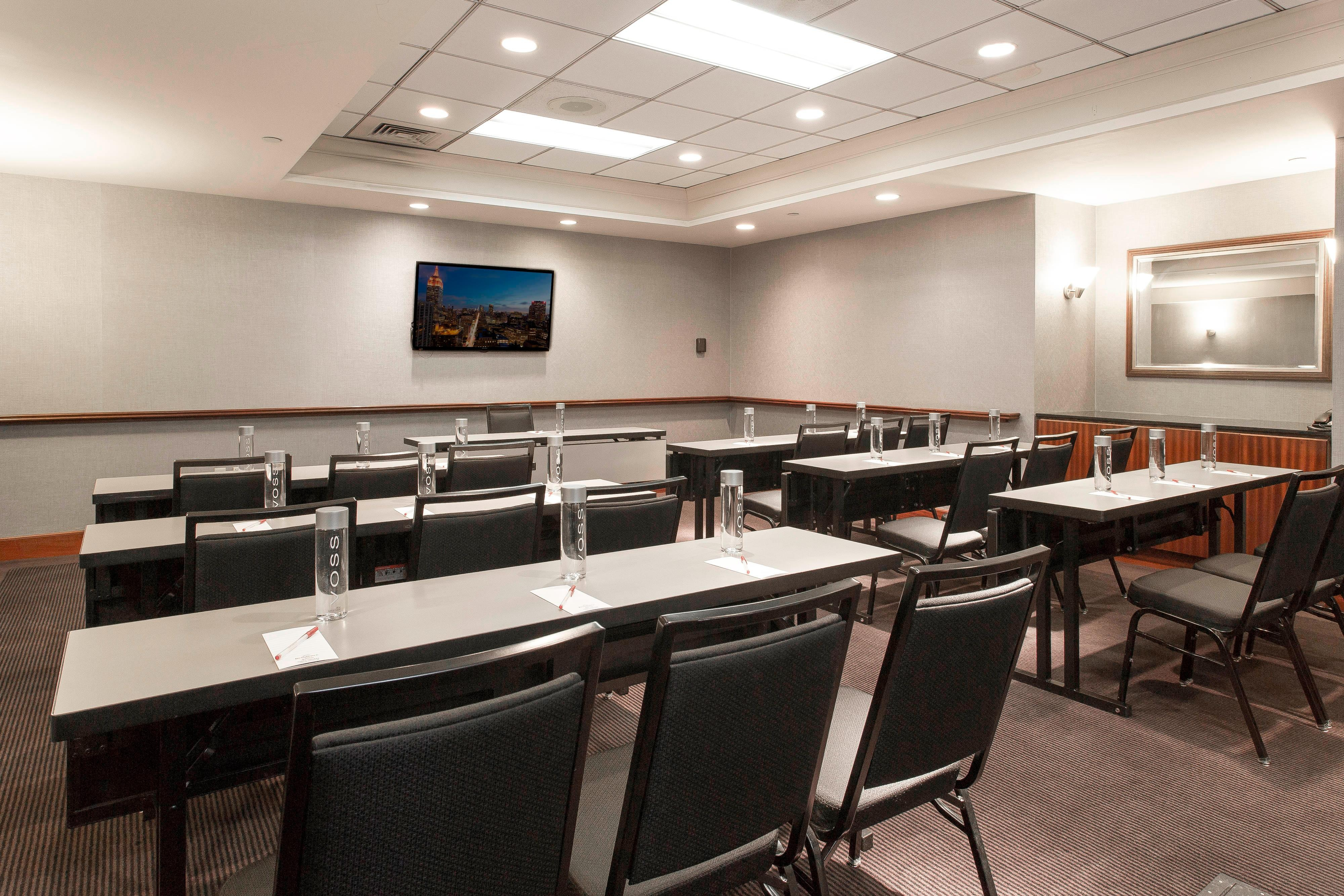 Classroom setup of meeting space located in Times Square