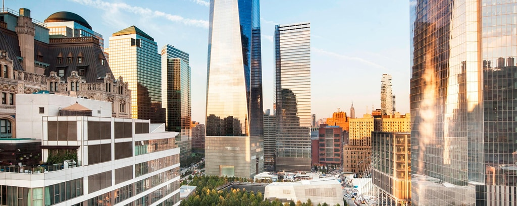 Vista sullo skyline di Manhattan