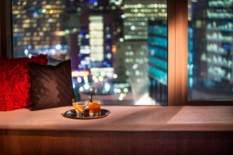 Cocktails with a City View