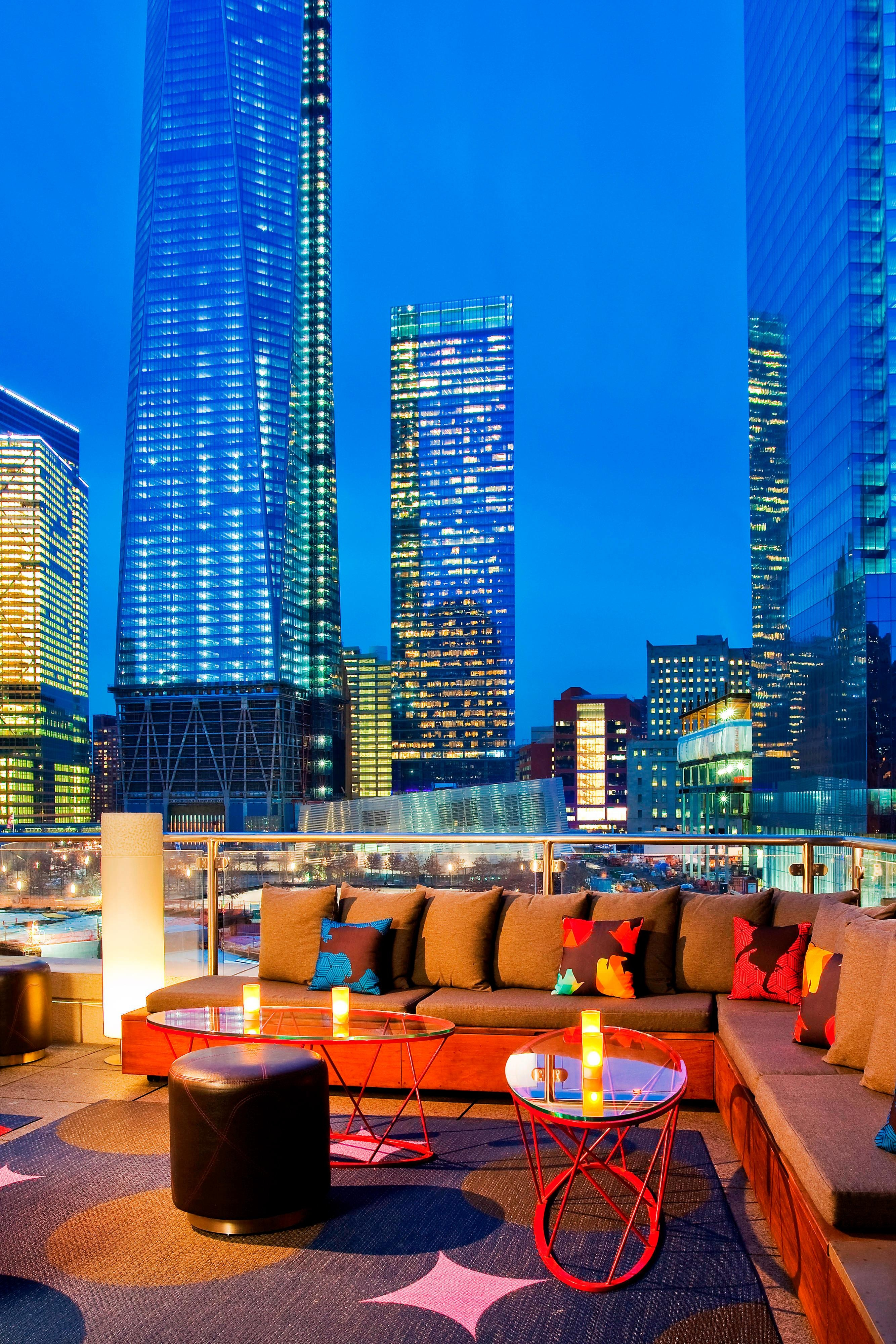 Terrace Overlooking One World Trade Center