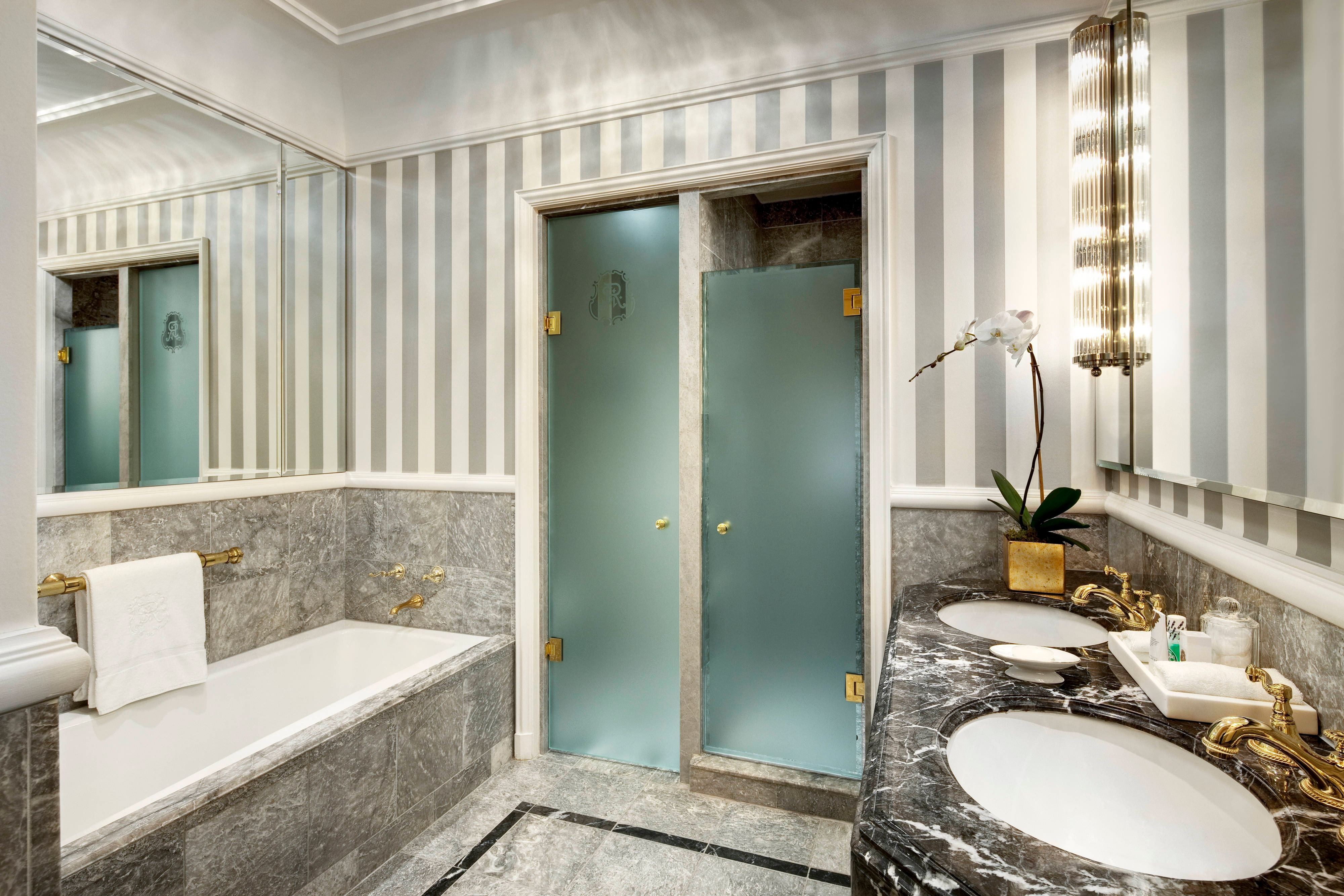 Accessible Guest Bathroom -  Roll In Shower