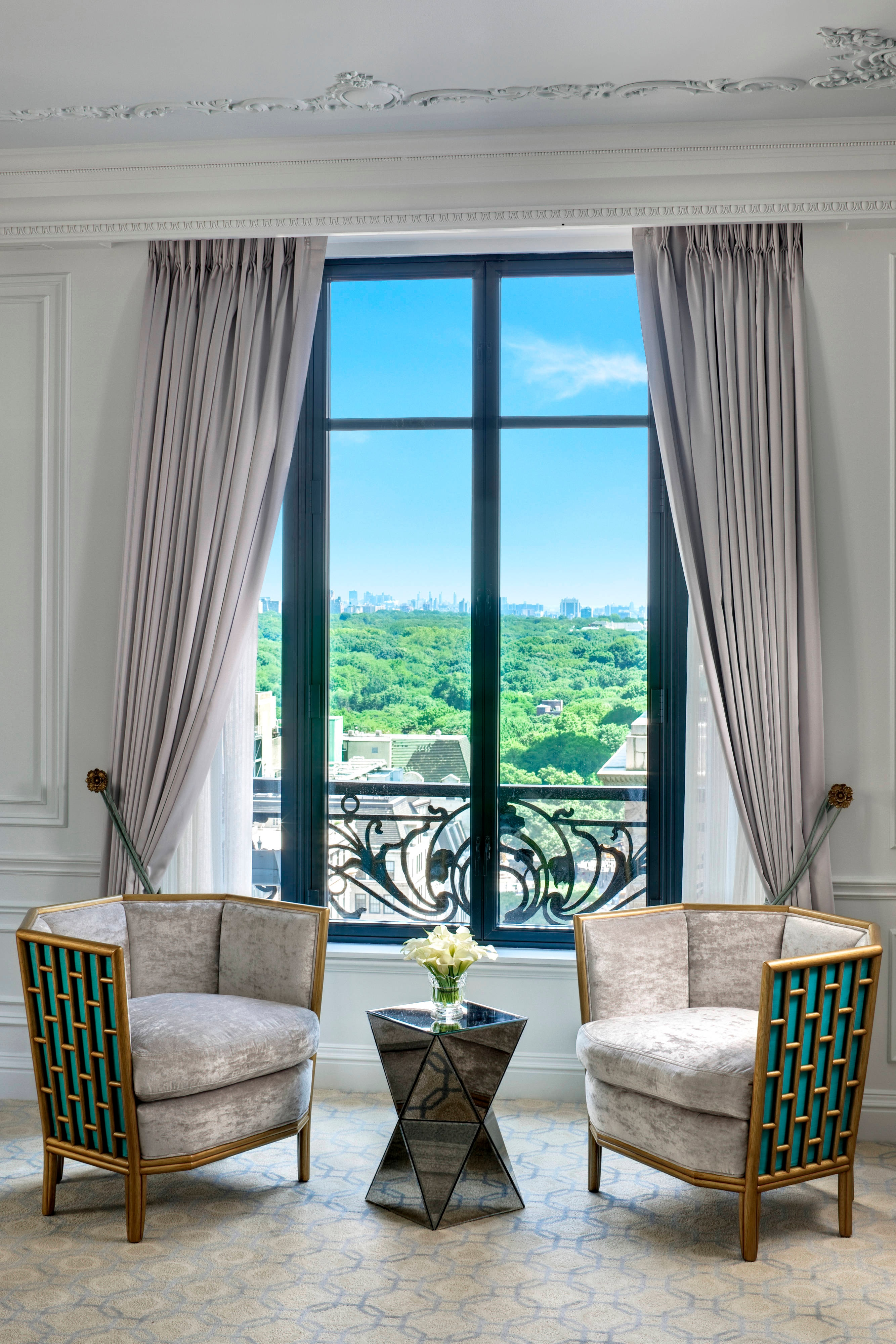 Tiffany Suite - Living Room with park View