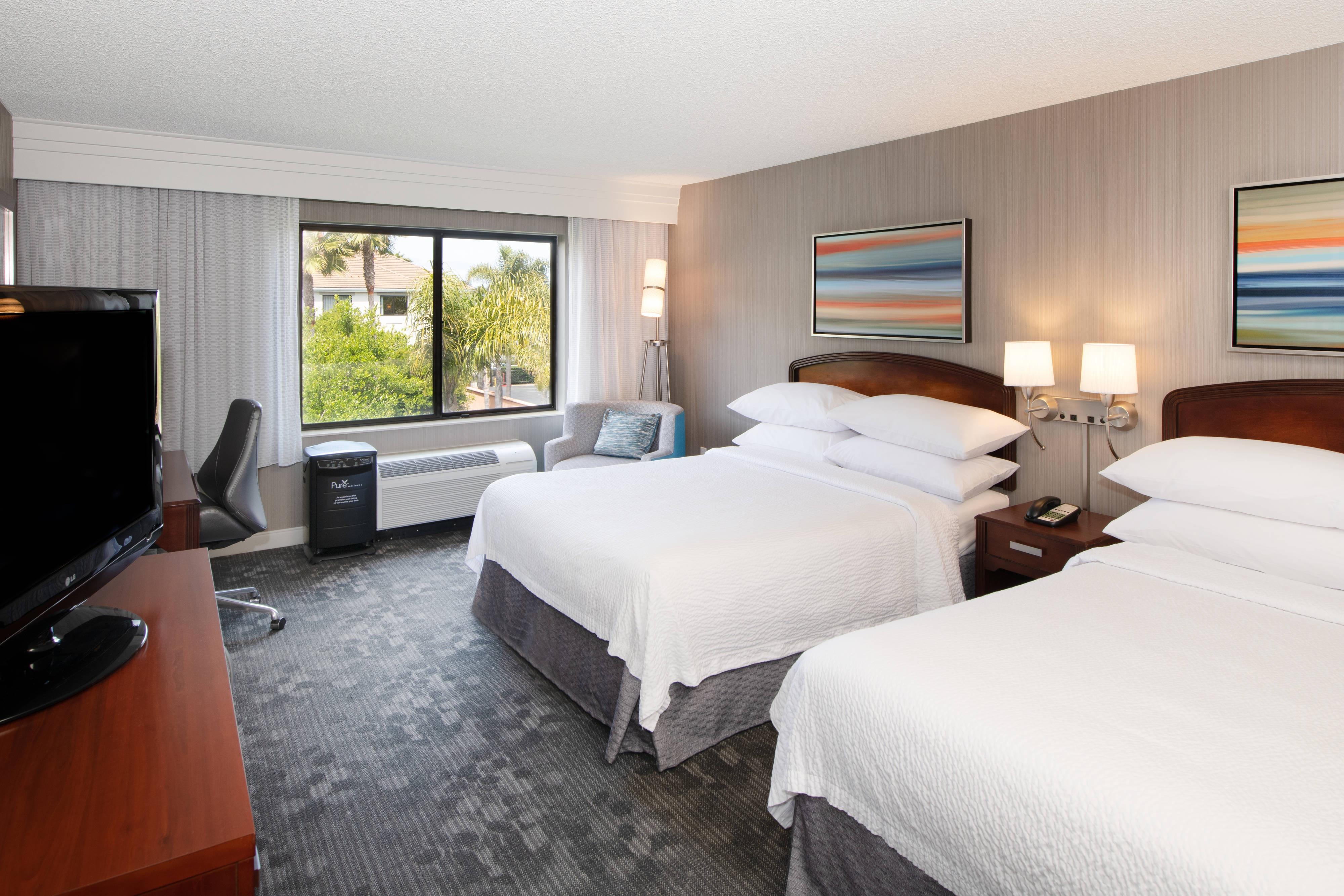 Chambre PURE bien-être avec deux lits queen size