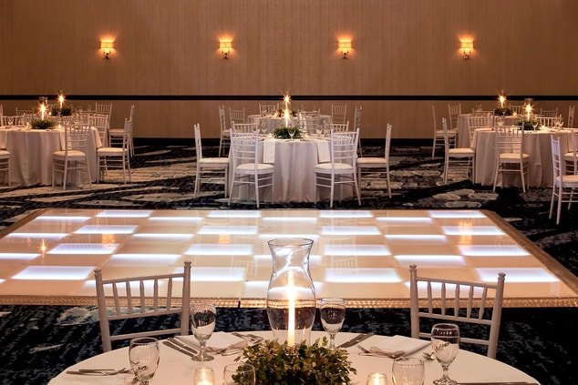 Formal Dining and Dance featuring our LED Dance Floor