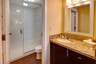 suite bathroom, Paul Mitchell amenities