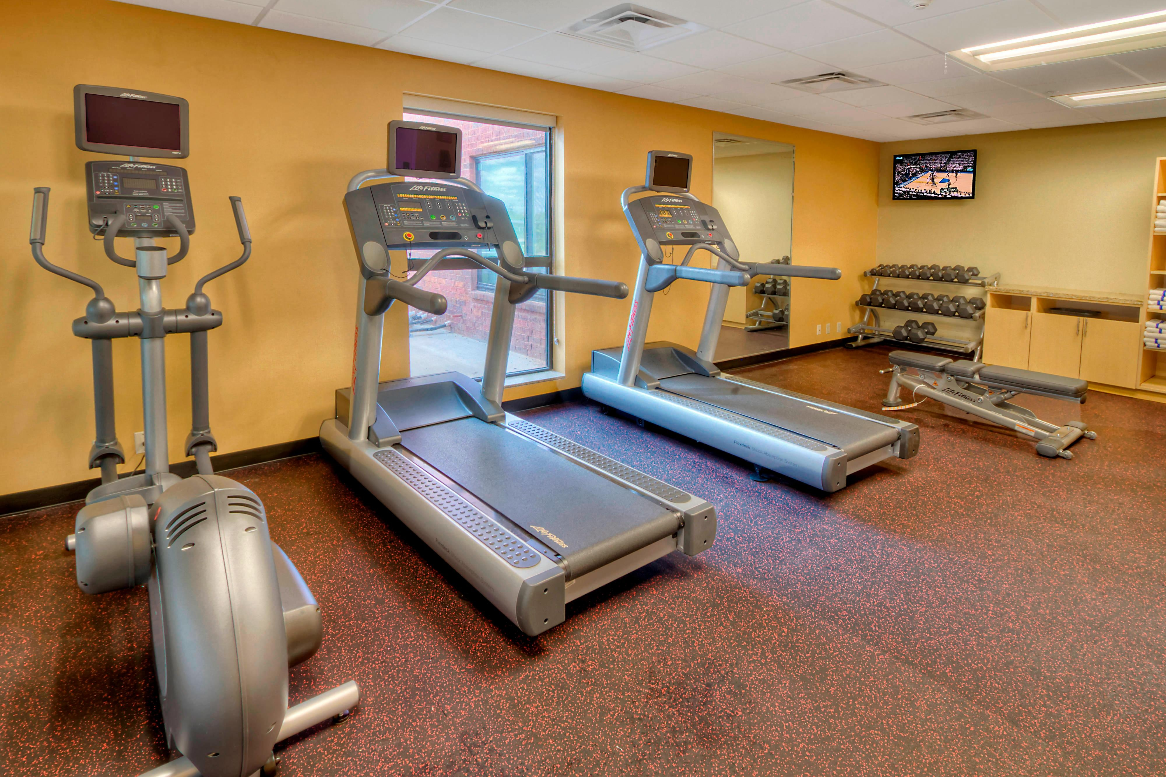 Exercise Fitness Weights Elliptical Treadmill
