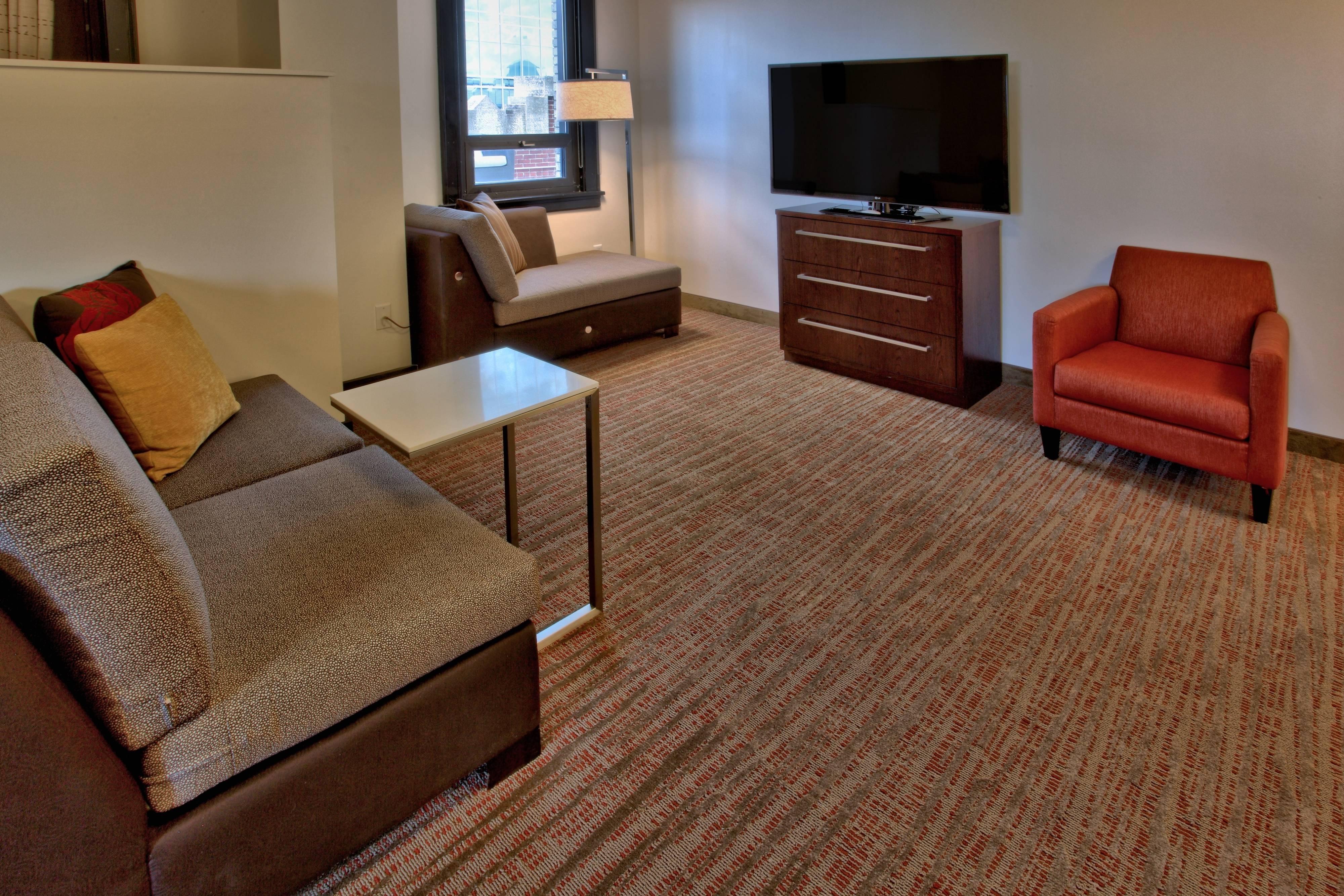 Sala de estar de la suite Penthouse