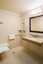 SpringHill Suites Council Bluffs Accessible Bathroom
