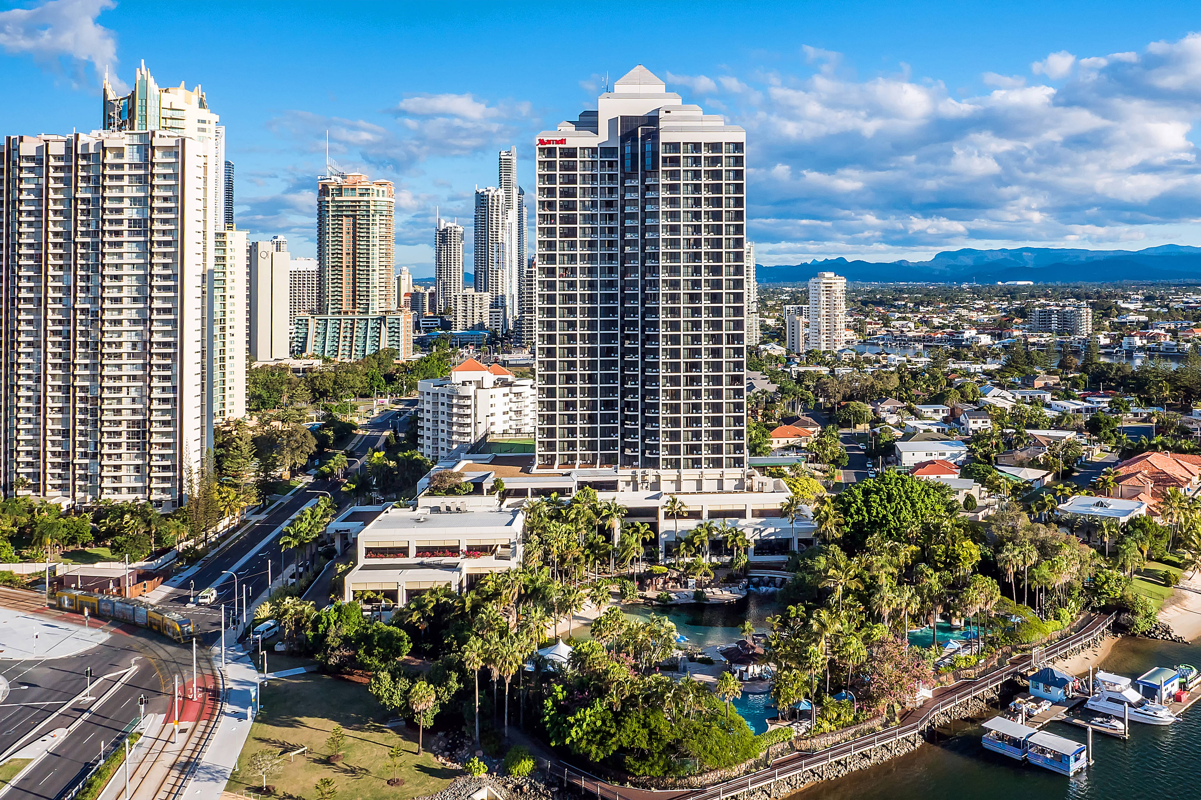 Surfers Paradise hotel aerial shot