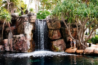 Surfers Paradise hotel waterfall