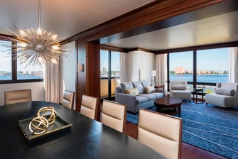Presidential Suite - Dining Room and Living Room