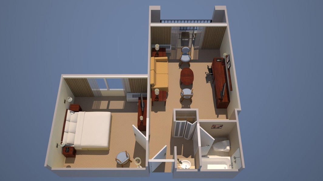 1 Bedroom Executive Suite - 1 King, Sofa Bed