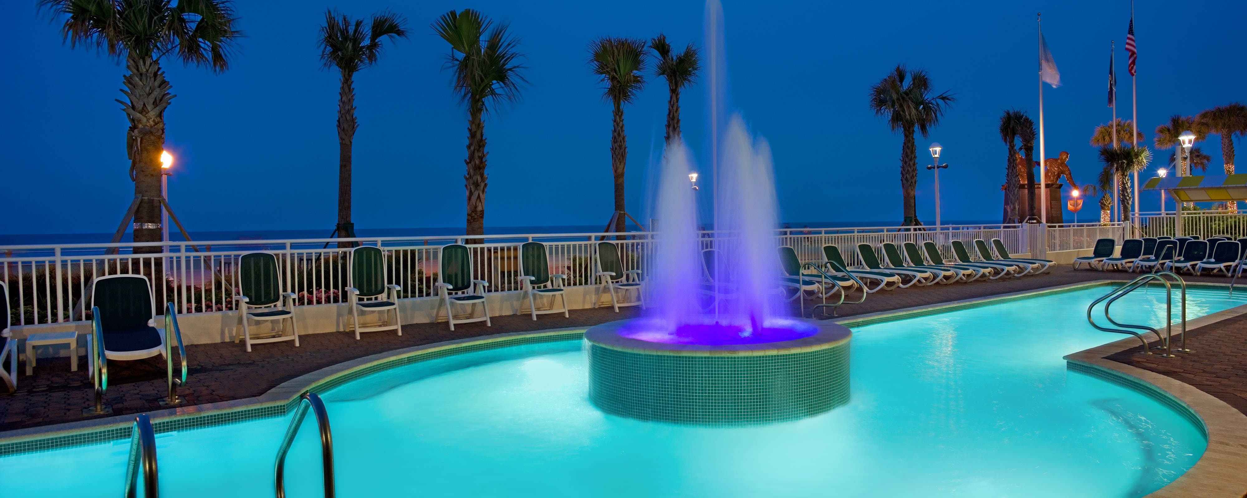Outdoor Pool Fountain