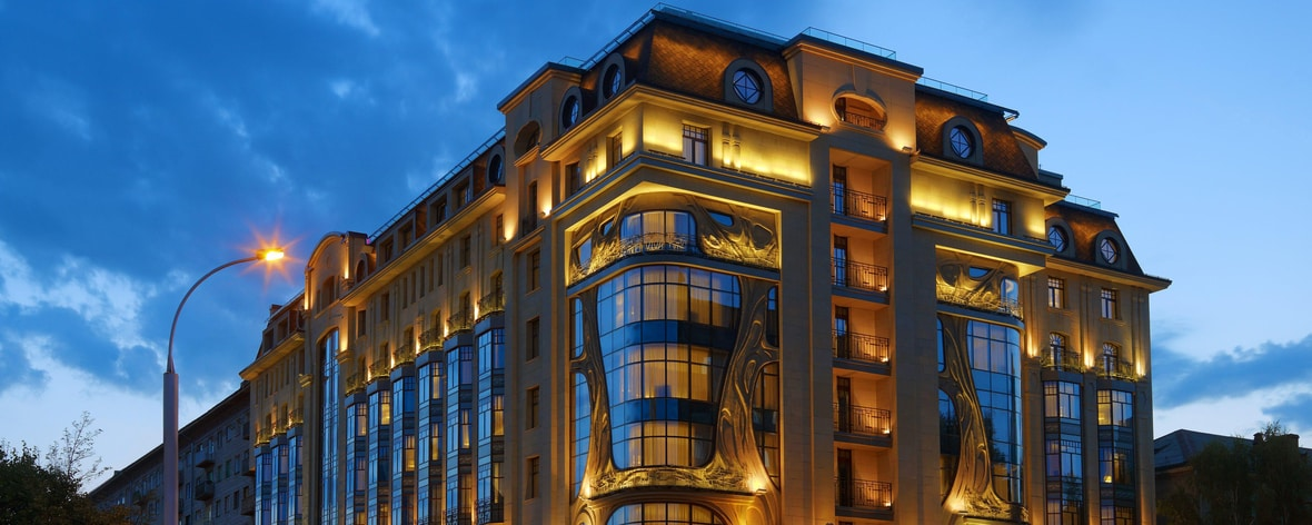 Exterior Night Novosibirsk Marriott Russia