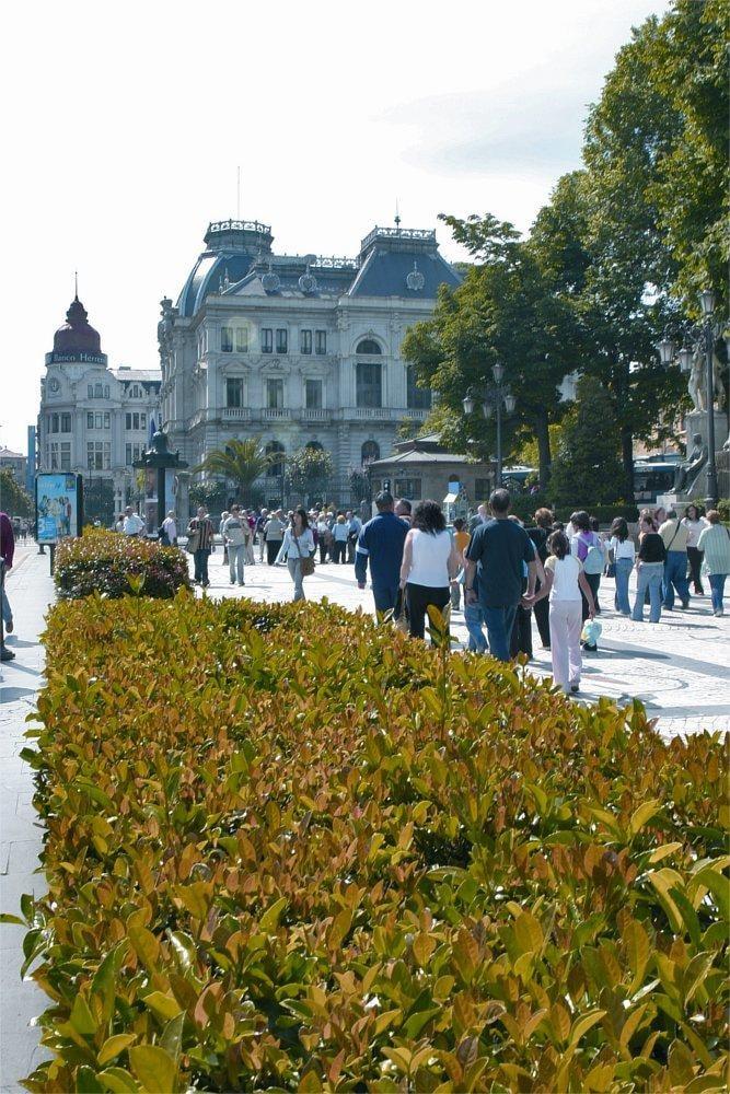 Paseo de San Francisco en Oviedo