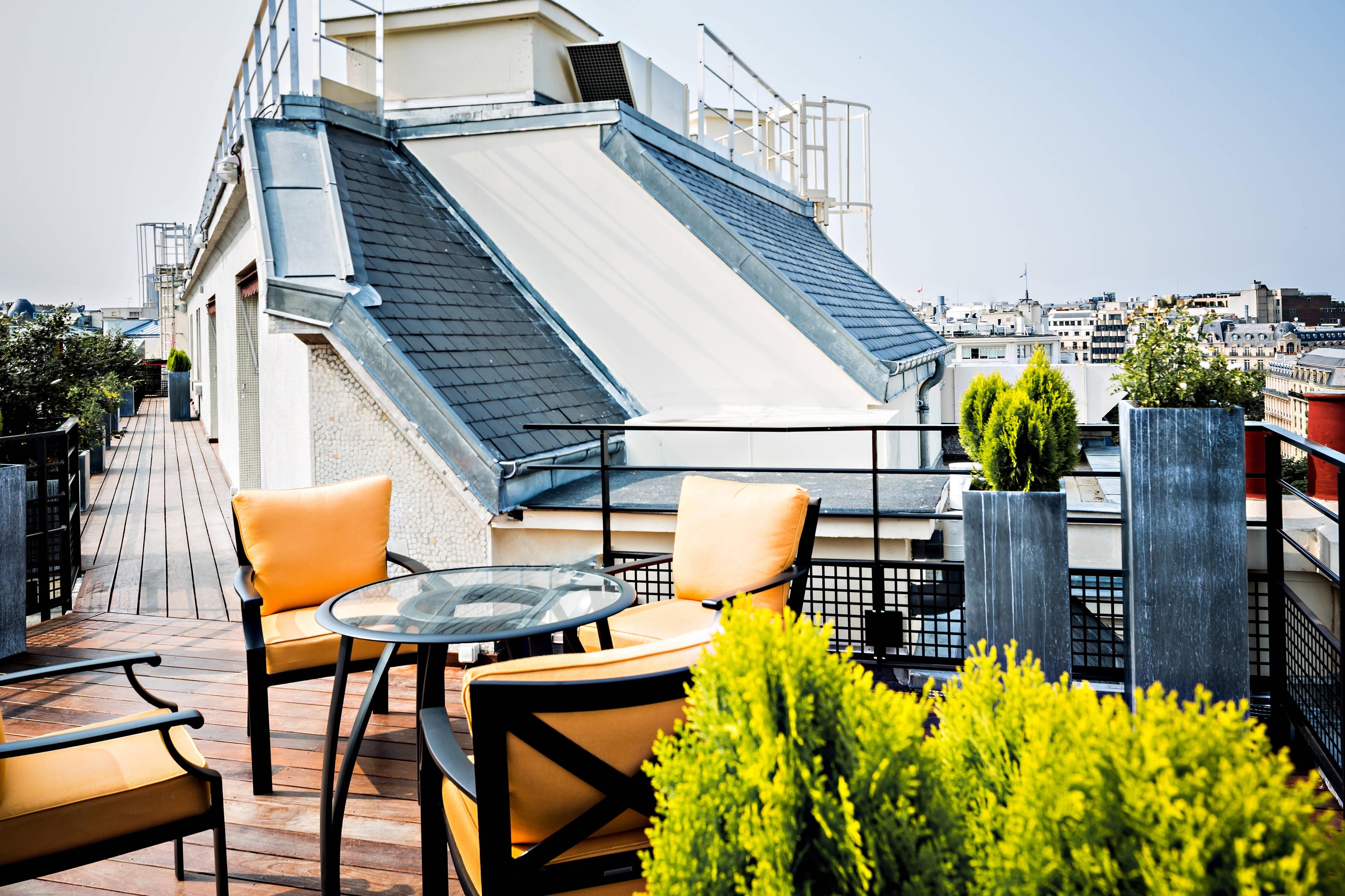 Appartement parisien, terrasse sur le toit