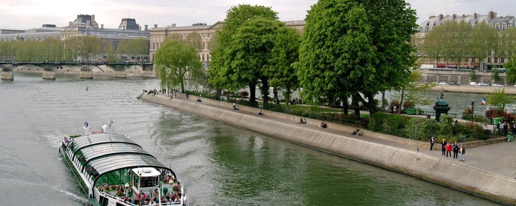 Bateau Mouche am Fluss Seine