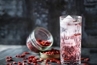 Cocktail Sparkling aux baies de goji