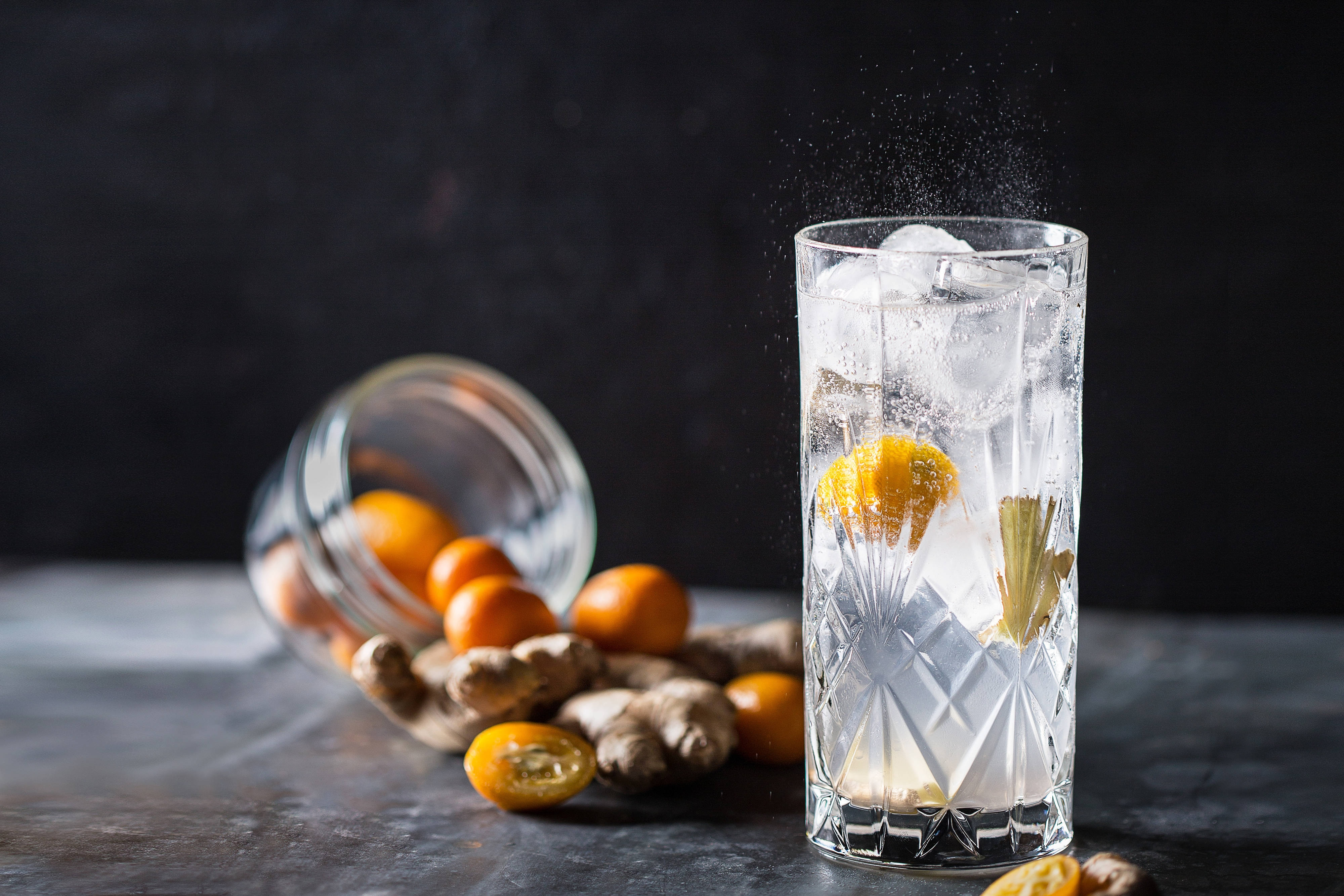 Sparkling Cocktail Kumquat Ginger