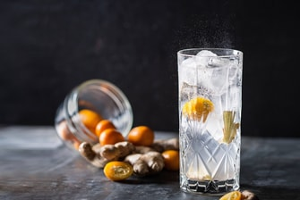 Cocktail Sparkling au kumquat et gingembre